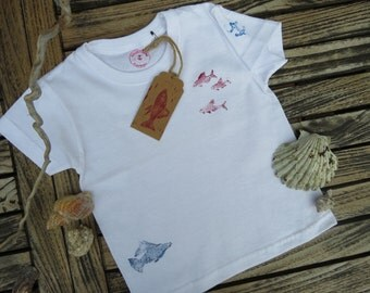 Children T-Shirt with maritime motifs, size 92