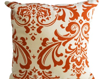 Elegant Orange Decorative Pillow with Zipper