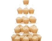 Cupcake Stand, Premium Cake Display Tower Rack, 5 Tier Round clear Acrylic Wedding Dessert Server Centerpiece, Party Food Cupcakes