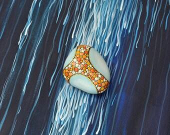 Katyusha - hand-painted stone
