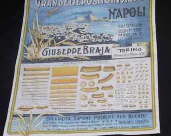 100% Cotton Italian Naopli Pasta Tea Towel