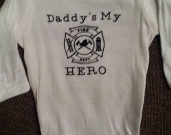 Daddy's My Hero Fireman Onesie