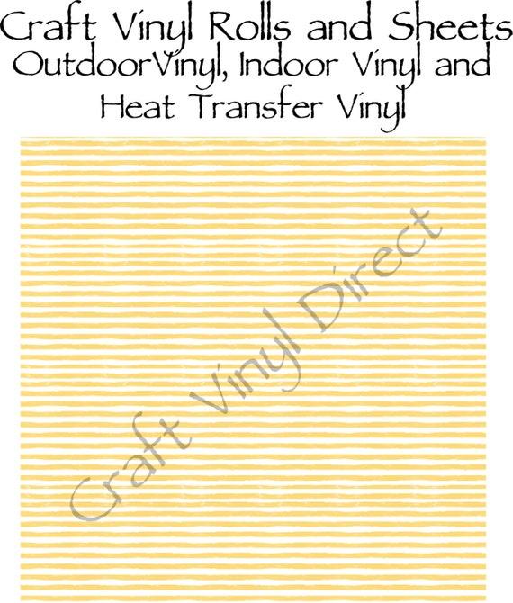 Yellow Watercolor Stripe Craft Vinyl and Heat Transfer Vinyl