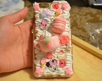 iPhone 6 Pink-themed Decoden Phone Case