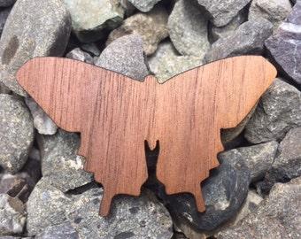 Fancy Wing Butterfly Garden Beauty Laser Cut Walnut Wooden Sticker