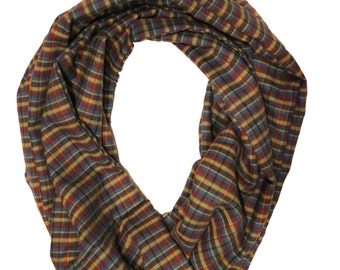 Eternal type checkered scarf! Colorful: yellow, blue, red, and more!