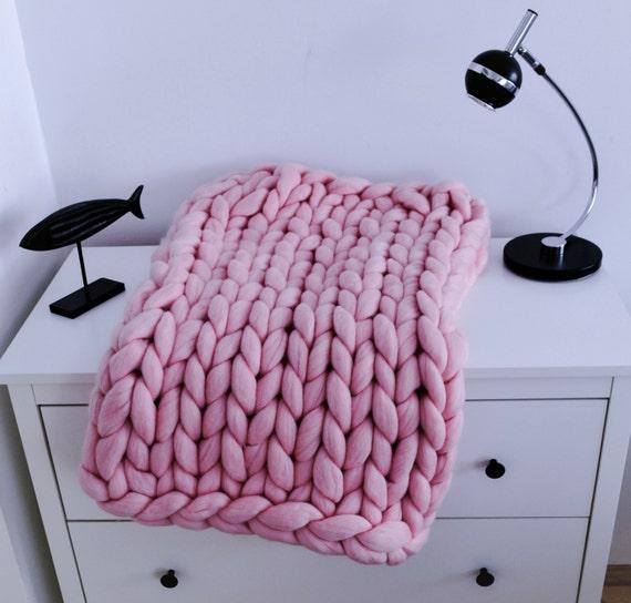 grobstrick decke gestrickte decke decke aus merinowolle. Black Bedroom Furniture Sets. Home Design Ideas