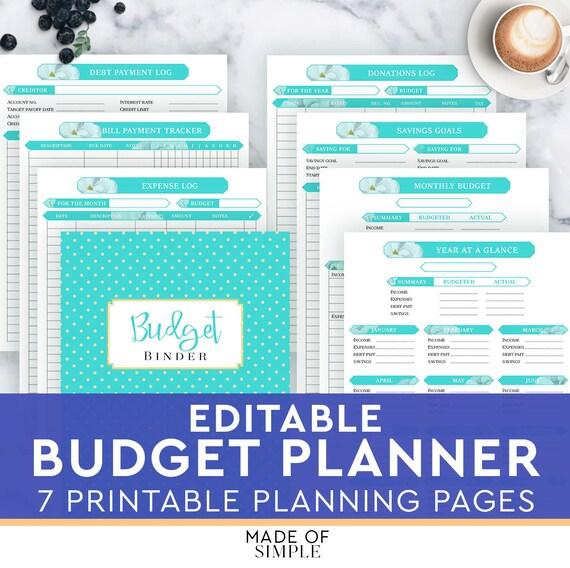 home finance bill organizer template - finance planner home budget planner financial household