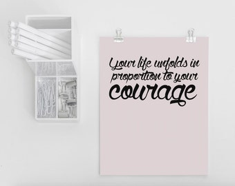 Quote Postcard 'Your Life Unfolds In Proportion To Your Courage'