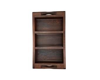 Sale 30% off Vintage brick mould | Wooden brick mould | Brick mould tray | 3 section brick mould  #174A656X10