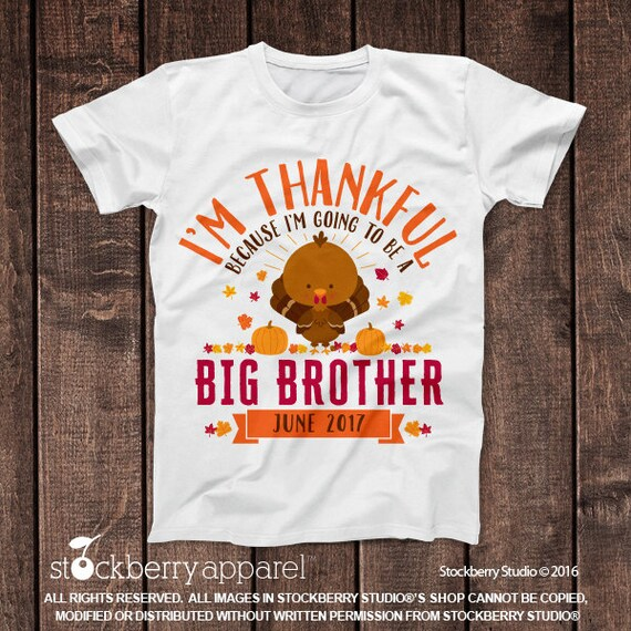 Items similar to thanksgiving pregnancy announcement shirt for Big sister birth announcement shirts