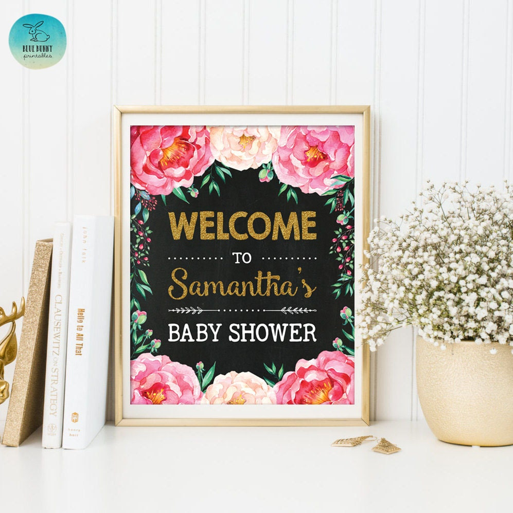 baby shower welcome sign personalized cottage chic baby