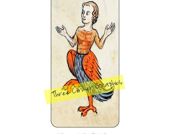iPhone 6 Plus printable case design (Medieval chicken lady); DIY print at home iPhone accessories for 6 Plus, 6S Plus