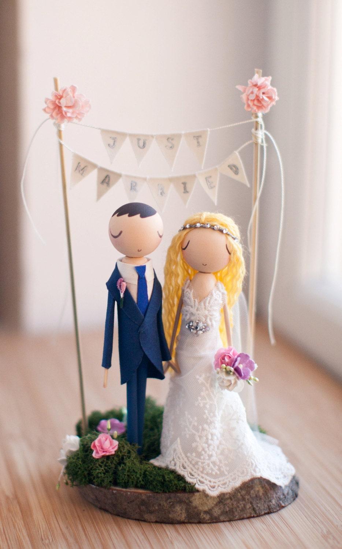 Rustic Wedding Cake Topper Boho Cake Topper Boho Wedding