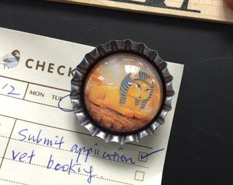Bottle Cap Cats Magnet Set (PM002) / Fridge Magnet / Refrigerator Magnet / self designed Magnet