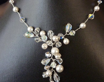 "Bridal Necklace ""Magic Pearl"""