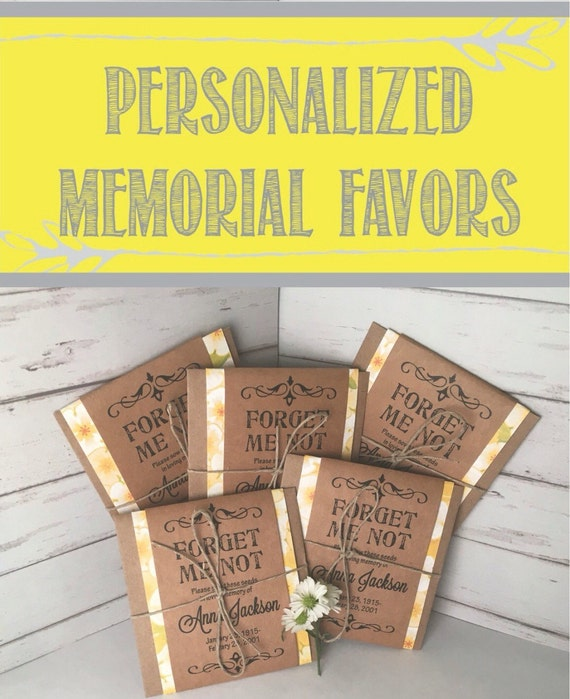 10 Forget Me Not Seed Packet Favours By Wedding In A: Items Similar To Funeral Forget Me Not Seed Packets