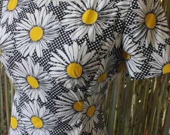 Daisy Polka Dot Vintage Dress