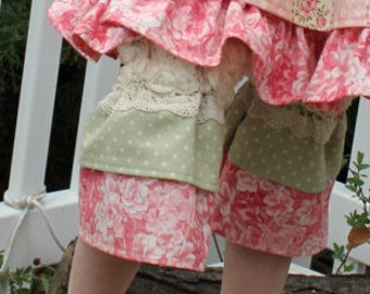 Rose Garden Lace and Ruffle Pants 2T