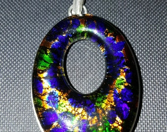 Dichroic Glass Pendant !  REDUCED!!!!