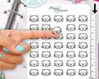 Clear Cat Stickers Kitten Stickers Vet Stickers Pet Stickers Animal Stickers Erin Condren Functional Stickers Decorative Stickers NR409