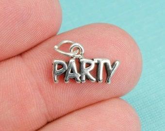 Sterling Silver Party Bracelet Charm, College, Pendant, Jewelry, .925 Silver, Celebration, DIY Bracelet, (C153)