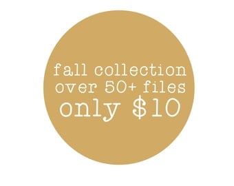 sale // fall collection // svg dxf file instant download silhouette cameo cricut clip art