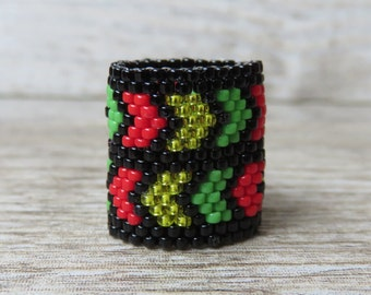 Arrow rasta dreadlocks ring
