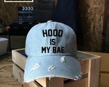 Hood is my Bae, Calum Hood Baseball Cap,5 Seconds of Summer, Denim Cap, Jean Cap, Low-Profile Baseball Cap Baseball Hat