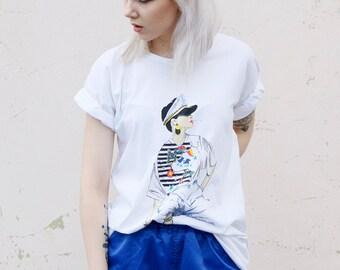 Vintage 80's Scandi Style T-shirt Top