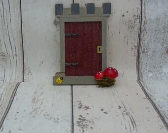 Fairy Elf Door Brown Castle Gate Handmade Various Options