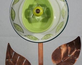 Green Plate Flower