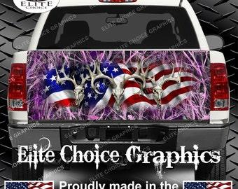 American Buck Tallgrass Pink Truck Tailgate Wrap Vinyl Graphic Decal Sticker Wrap
