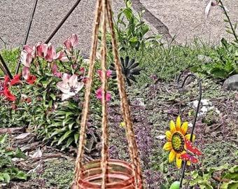 Hanging Mason Jar Herb Garden, Hanging Garden, Herb Garden, Hanging Herb Garden, Mason Jar Herbs, Indoor Herb Garden, Outdoor Herb Garden