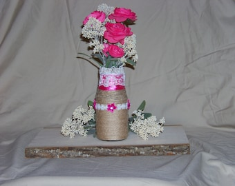 Elegant Twine Wrapped Centerpieces