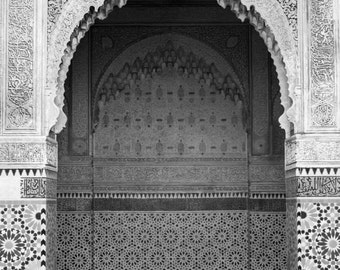 Set of four 5 x 7 Prints, Marrakech, morocco, - Fine Art Print, Black and White Prints, Doors, Moroccan Art