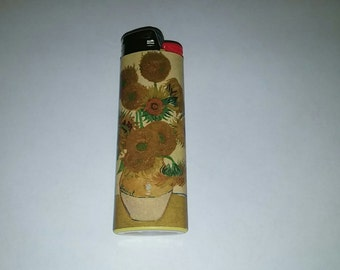 Custom Van Gogh Sunflowers Lighter