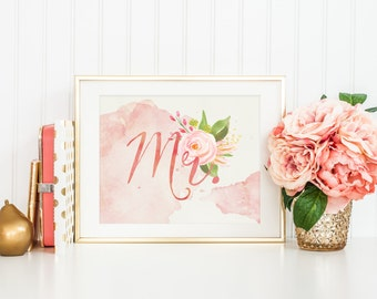 mr wedding sign printable, groom wedding sign, sweetheart table sign, bridal table sign, groom chair sign, blush wedding decor, digital