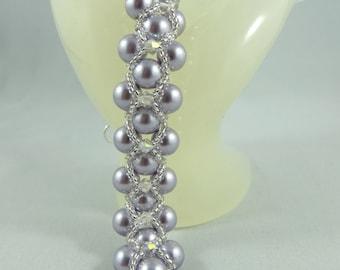 8 mm Swarovski Glass Pearls Bracelete