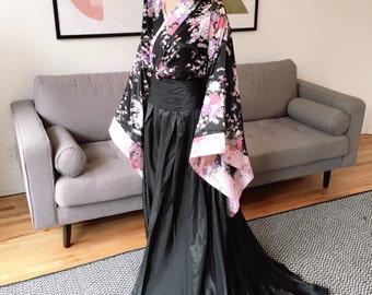Kimono Inspired Sakura Floral Wedding Gown
