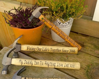 Wooden Hammer, Personalised Hammer, Fathers Day Gift, Custom Hammer, Best Dad Gift, Gift for Dad, Best Man Gift, Father of The Bride gift