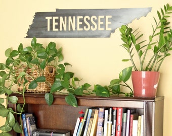 TENNESSEE Volunteer Metal Art  |   rustic home decor vols gift for him
