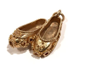 Yellow Gold Ballet Slippers.