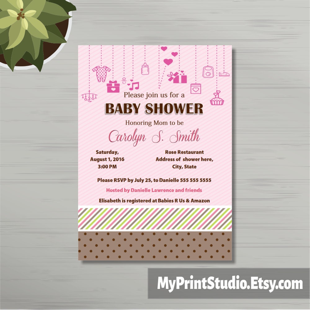 printable baby shower invitation template in ms word girl