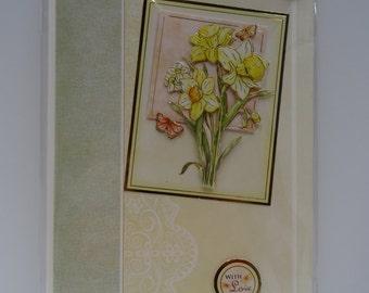 Daffodil birthday card - card2card