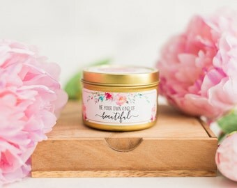 Be Your Own Kind of Beautiful Scented Soy Candle | Girlfriend Gift | Asking Bridesmaid Gift