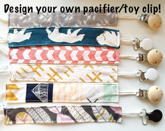 Design your own pacifier/toy clip