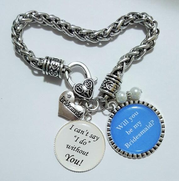 Bridesmaid Gift / Bridesmaid Bracelet / Bridesmaid Keychain / Will you be my Bridesmaid / Wedding Keepsake / Gifts for Bridesmaids