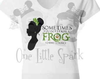 Princess Tiana // Princess and the frog// Tiana // vneck // Bayou Beauty