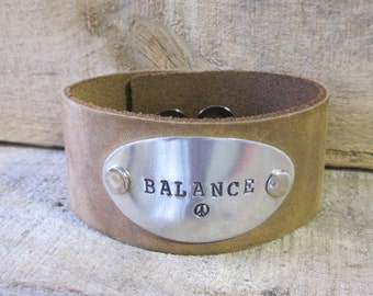 Hand Made Stamped leather cuff